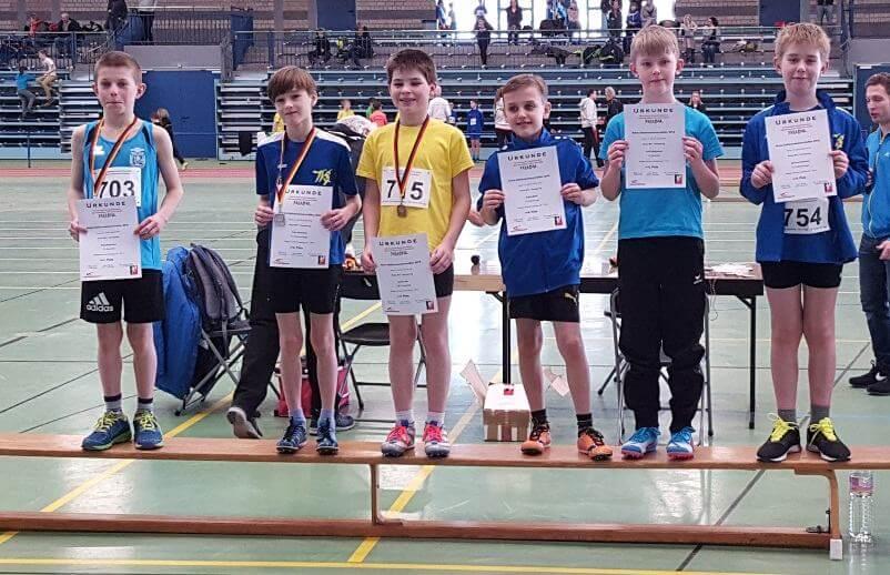 Paul auf Platz 1 und Colin auf Platz 5