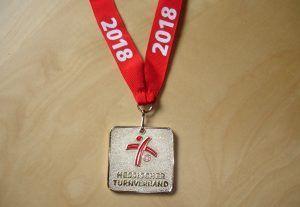 Medaille von den Hessischen Hallenmeisterschaften