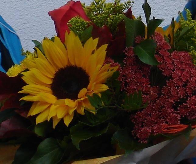 Blumen für Übungsleiter