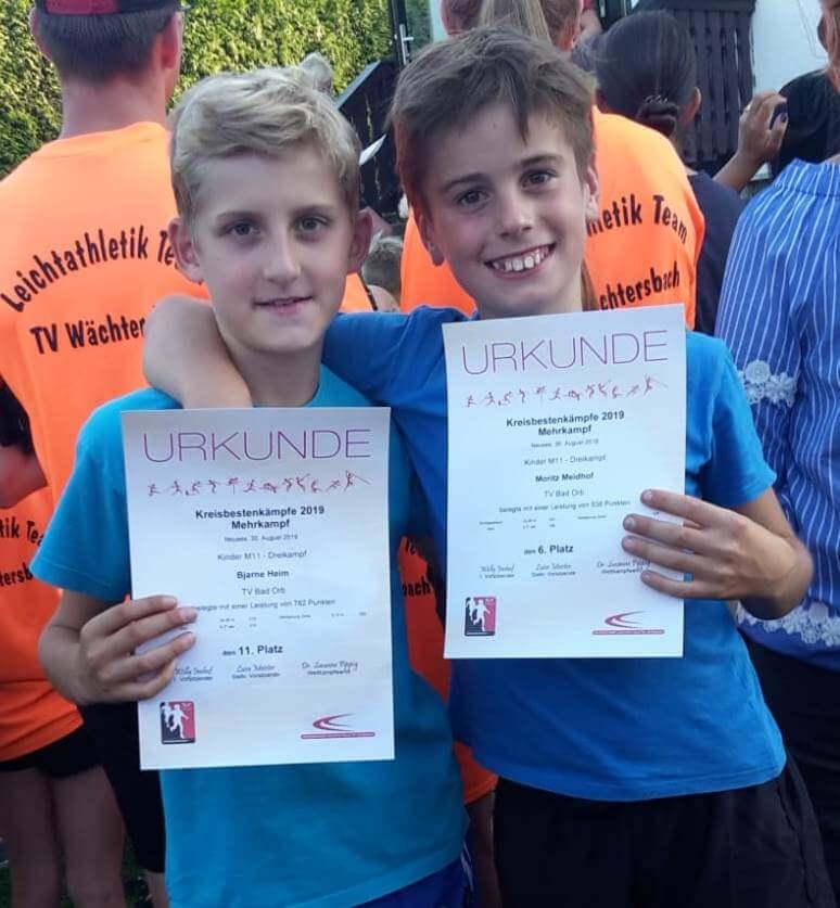 Bjarne und Moritz bei den Kreismeisterschaften